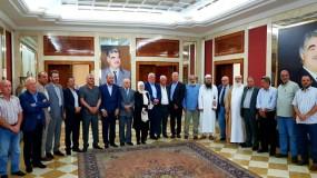 اجتماع الفصائل الفلسطينية مع بهية الحريري حول قرارات وزارة العمل اللبنانية