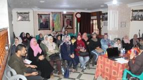 دائرة المرأة باللجنة الشعبية للاجئين بمخيم الشاطئ تنظم ندوة سياسية بعنوان: الوضع القانوني لعمل الأونروا والتطور التاريخي لقضية اللاجئين في مقر اللجنة