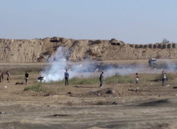 """إصابات مختلفة برصاص جيش الاحتلال في جمعة """"لا للتطبيع"""" شرق غزة"""