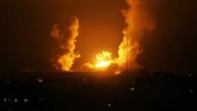جيش الاحتلال يقصف مناطق في قطاع غزة رداً على إطلاق صاروخين