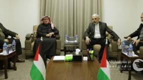 خلال لقاء مع قيادة حماس في غزة..العمادي: قطر تعمل لتثبيت وقف اطلاق النار