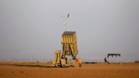 اطلاق قذيفة صاروخية من غزة وجيش الاحتلال: تم اعتراضها من قبل القبة الحديدية