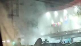 """إصابة عدد من المواطنين بالاختناق إثر حريق في مول """"كير فور"""" غرب غزة"""