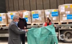 وزارة الصحة تتسلم من اليونيسيف رزمة مساعدات طبية