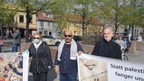 نادي الأسير الفلسطيني في النرويج وجمعية أصدقاء فلسطين ينظمون وقفة دعماً لأسرانا البواسل في سجون الاحتلال .
