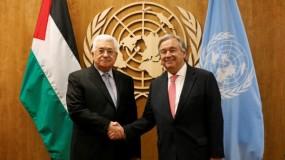 """غوتيريش لـ """"الرئيس عباس"""": دعونا الرباعية لمناقشة سبل عقد اجتماع وزاري لبحث القضية الفلسطينية"""