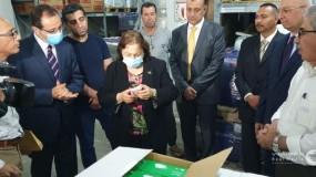 وزارة الصحة تتسلم شحنة مساعدات طبية مقدمة من مصر
