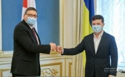 السفير الدجاني يقدم اوراق اعتماده لفخامة الرئيس الاوكراني