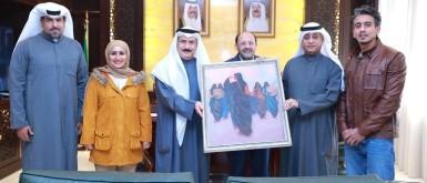 وافد مصري يعيد لوحة نادرة للكويت سُرقت إبان الغزو العراقي