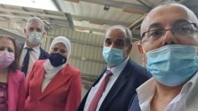 وفد وزاري برئاسة وزيرة الصحة مي كيلة يصل الى قطاع غزة
