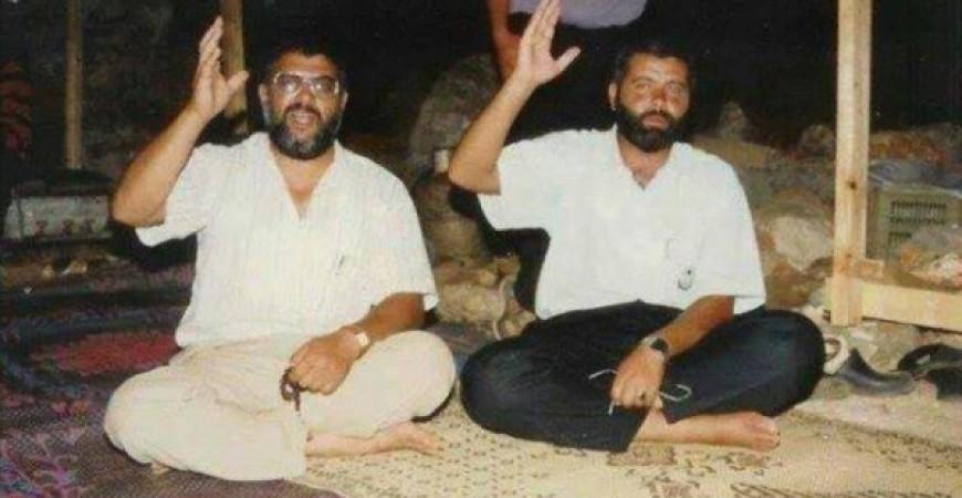 إسماعيل هنية في مرج الزهور برفقة الشهيد عبد العزيز الرنتيسي عام 93