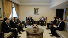 الرجوب يطلع وزير الخارجية السورية على تطورات القضية الفلسطينية