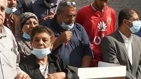 خلال وقفة نظمها حزب الشعب تضامنا مع الاسير المضرب عن الطعام ماهر الاخرس