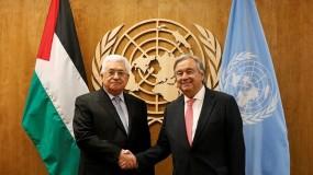 الرئيس يتلقى رسالة من غوتيريش حول دعوة دولة فلسطين لعقد مؤتمر دولي للسلام