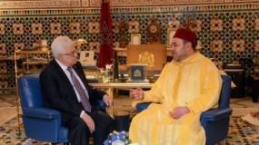 الديوان الملكي: العاهل المغربي يُؤكد للرئيس عباس التزام بلاده بحل الدولتين