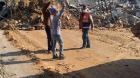 """""""سلطة الطاقة"""" بغزة: دمار كبير يطال شبكات الكهرباء نتيجة القصف الإسرائيلي بالقطاع"""