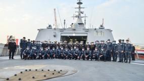 الجيش المصري يتسلم أول فرقاطة مصنعة محليا