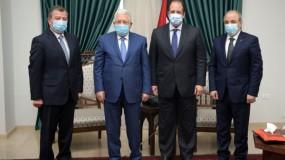 الرئيس عباس يجتمع مع رئيسي جهازي المخابرات المصرية والأردنية