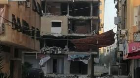 استهداف بناية (الروضة 2) في تل الهوا غرب مدينة غزة