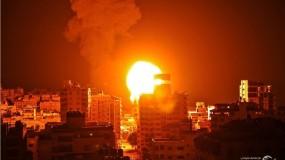 الاحتلال يشن 80 غارة على مناطق متفرقة في قطاع غزة فجر اليوم