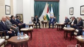 اجتماع الرئيس عباس بالوفد الأمني المصري