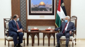 لقاء الرئيس عباس مع رئيس جهاز المخابرات العامة المصرية