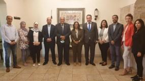 """أبو زهري يلتقي مدير مكتب """"اليونسكو"""" في فلسطين ويبحثان سبل تطوير التعاون والتنسيق المشترك"""