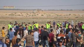 إصابات خلال مهاجمة جيش الاحتلال لمسيرة شعبية شرق خانيونس