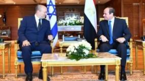 لقاء السيسي برئيس وزراء الاحتلال