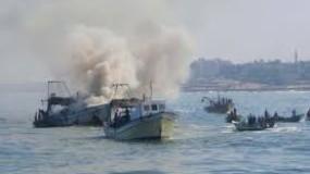 داخلية غزة:الصيادون الثلاثة استشهدوا جراء انفجار عبوة شديدة الانفجار مُثبتة على حوّامة تابعة للاحتلال