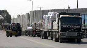 الاحتلال الاسرائيلي يسمح بدخول الأسمنت للمرة الأولى لغزة منذ 2014 دون رقابة الأمم المتحدة