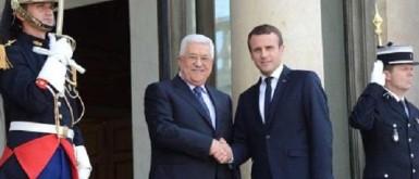 """ماكرون يدعو إلى """"مفاوضات حاسمة تسمح للفلسطينيين تحصيل حقوقهم بشكل نهائي"""""""
