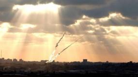 اطلاق صاروخين من قطاع غزة والقبة الحديدية تعترض أحدهما