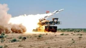 الدفاعات الجوية السورية تتصدى لصاروخ وتدمره