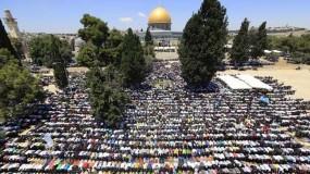ربع مليون مُصل أدوا صلاة الجمعة الأخيرة من رمضان في المسجد الاقصى
