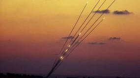انطلاق رشقات صاروخية جديدة من غزة على بلدات إسرائيلية ردا على قصف جيش الاحتلال