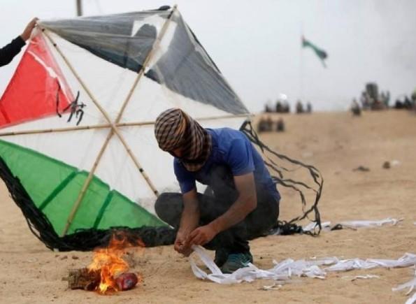 حرائق بفعل البالونات الحارقة من قطاع غزة