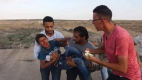 إصابات برصاص قوات الاحتلال في الجمعة (78) لمسيرات كسر الحصار شرق غزة