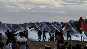 """إصابات من بينهم مسعفين برصاص جيش الاحتلال في جمعة """"لبيك يا أقصى"""" شرق غزة"""