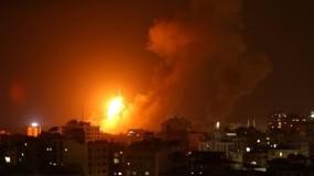 طائرات الاحتلال تستهدف موقع للمقاومة الفلسطينية شمال قطاع غزة