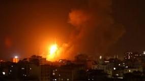 الطيران الحربي الإسرائيلي يقصف موقعا عسكريا شمال قطاع غزة
