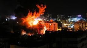 إصابات في تجدد قصف الطائرات الإسرائيلية لعدة أهداف في قطاع غزة