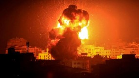 طائرات الاحتلال تستهدف مواقع أمنية وعسكرية بقطاع غزة
